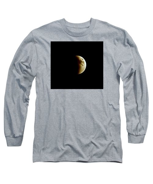 Super Moon Eclipse 2015 Long Sleeve T-Shirt by Diana Angstadt