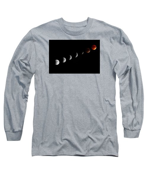 Long Sleeve T-Shirt featuring the photograph Super Moon Lunar Eclipse by Barbara West