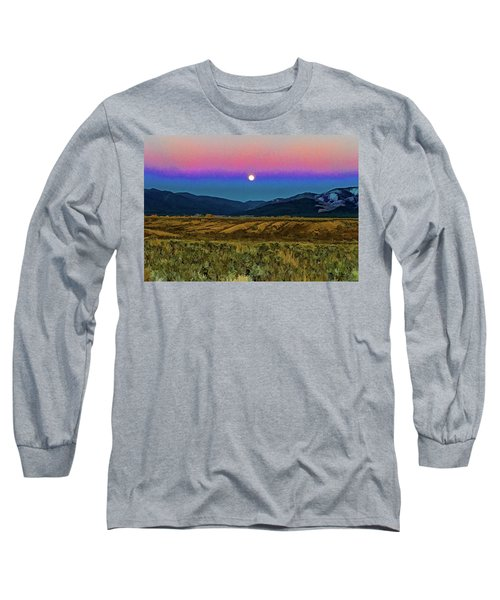 Super Moon Over Taos Long Sleeve T-Shirt