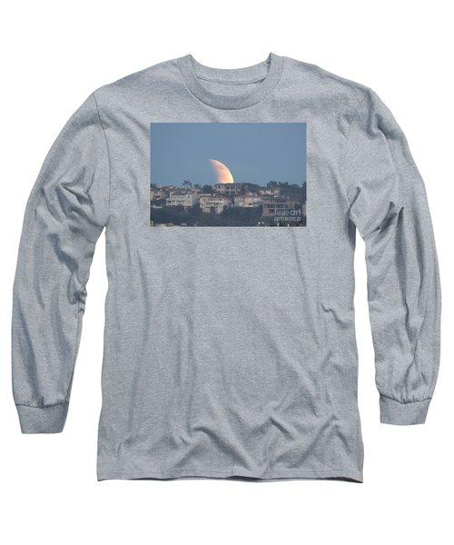 Super Moon Rise Long Sleeve T-Shirt by Loriannah Hespe