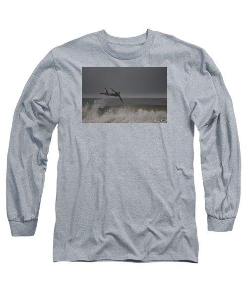 Super Surfing Long Sleeve T-Shirt by Robert Banach