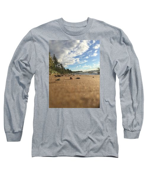 Long Sleeve T-Shirt featuring the photograph Superior Shore by Paula Brown