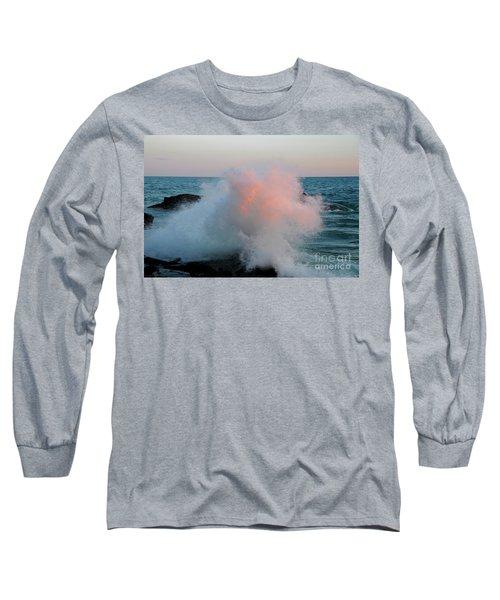 Superior Sundown Splash Long Sleeve T-Shirt by Sandra Updyke