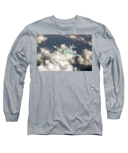 Long Sleeve T-Shirt featuring the photograph Supermarine Spitfire Prototype K5054 by Gary Eason