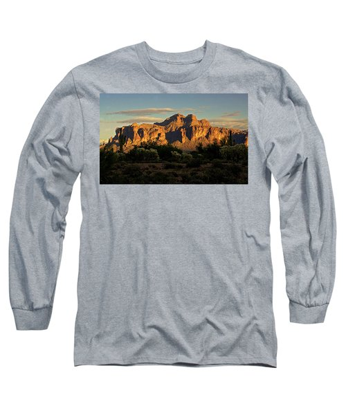Superstitions At Sunset  Long Sleeve T-Shirt