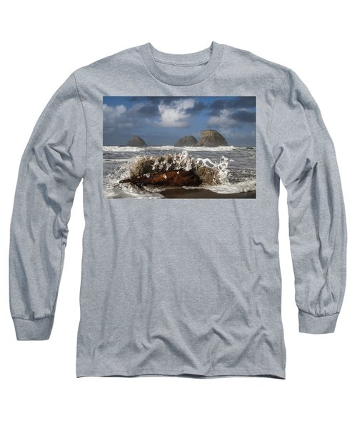 Surf And Three Arch Rocks Long Sleeve T-Shirt