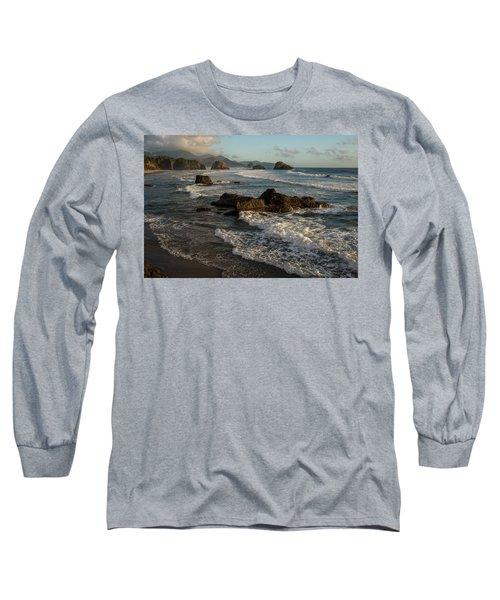 Surf At Crescent Beach Long Sleeve T-Shirt
