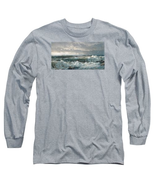Surf On The Rocks Long Sleeve T-Shirt by  Newwwman