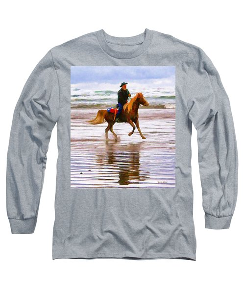 Surf Rider Long Sleeve T-Shirt by Wendy McKennon