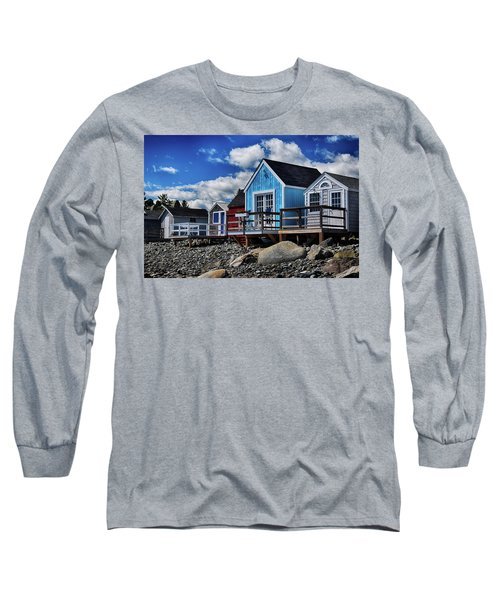 Surf Shacks Long Sleeve T-Shirt by Tricia Marchlik