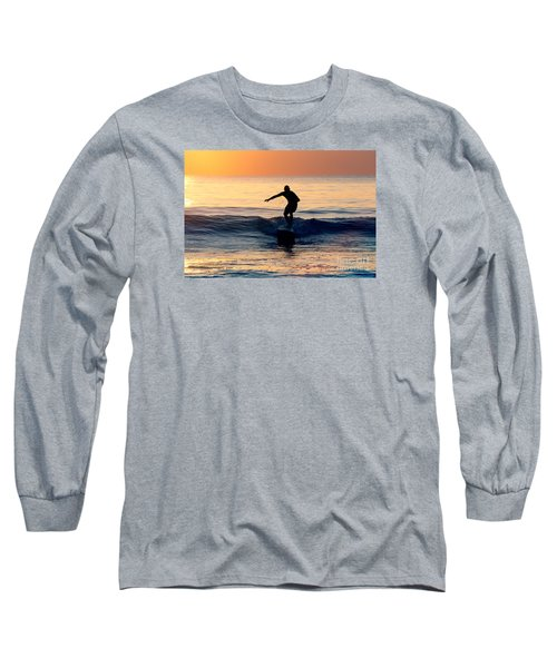 Surfer At Dusk Long Sleeve T-Shirt