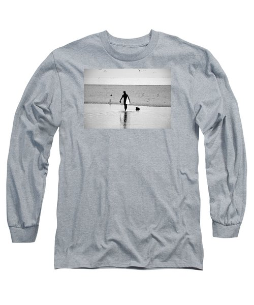 Long Sleeve T-Shirt featuring the photograph Surfer In Silhouette by Antonia Citrino