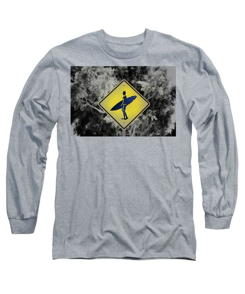 Surfer Xing Long Sleeve T-Shirt by Joseph S Giacalone