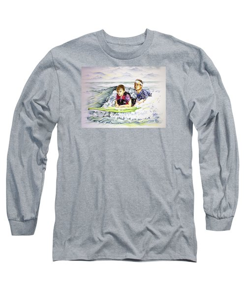 Surfers Healing Long Sleeve T-Shirt by William Love