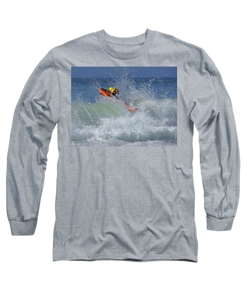 Surfing Dog Long Sleeve T-Shirt by Thanh Thuy Nguyen