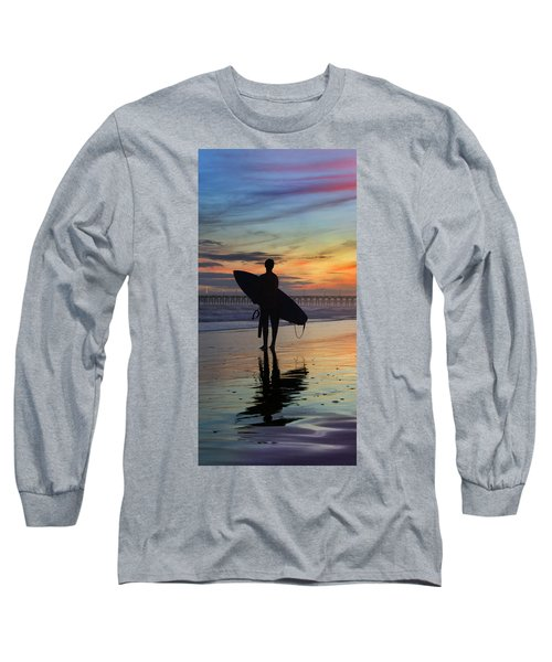 Surfing The Shadows Of Light Portrait Long Sleeve T-Shirt