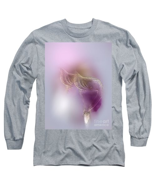 Long Sleeve T-Shirt featuring the digital art Surreal Calla 2 by John Krakora