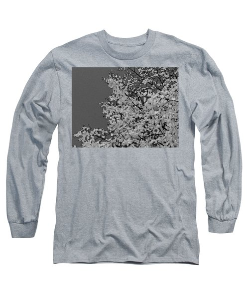 Surreal Deconstruction Of Fall Foliage In Noir Long Sleeve T-Shirt