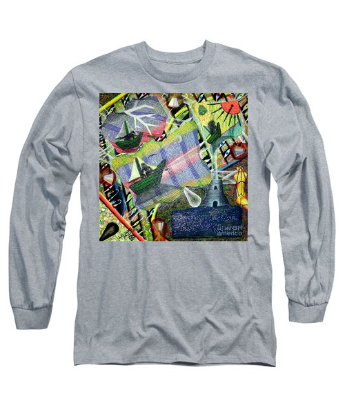 Surrealism Of The Souls Long Sleeve T-Shirt by Luke Galutia