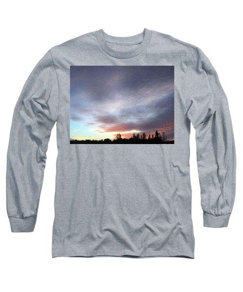 Suspenseful Skies Long Sleeve T-Shirt by Audrey Robillard