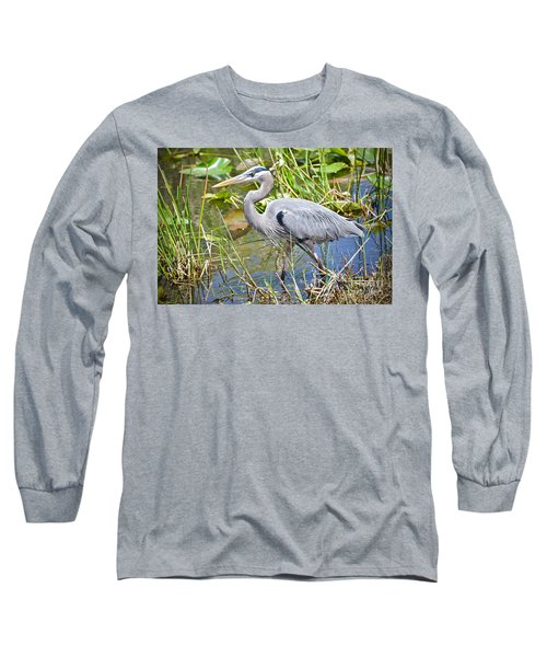 Swamp Stomp Long Sleeve T-Shirt by Judy Kay