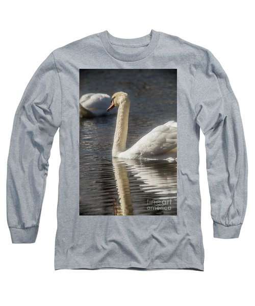 Long Sleeve T-Shirt featuring the photograph Swan by David Bearden