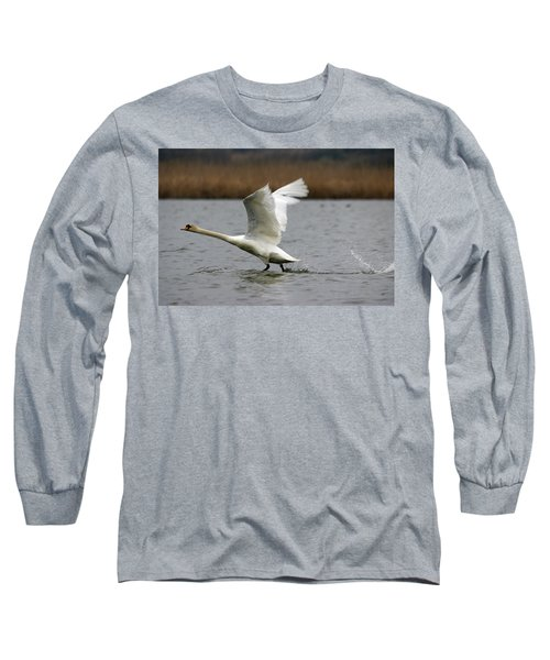 Swan During Take Off Long Sleeve T-Shirt