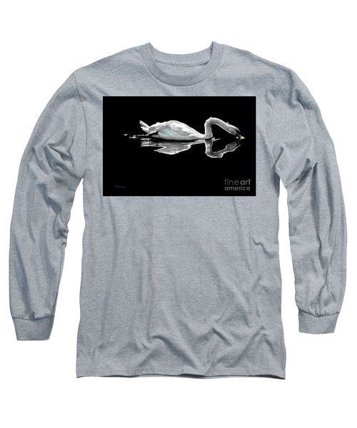 Swan Lake Nature Photo 2121a Long Sleeve T-Shirt