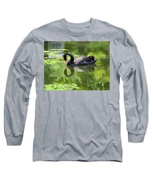 Swan Of Hearts Long Sleeve T-Shirt
