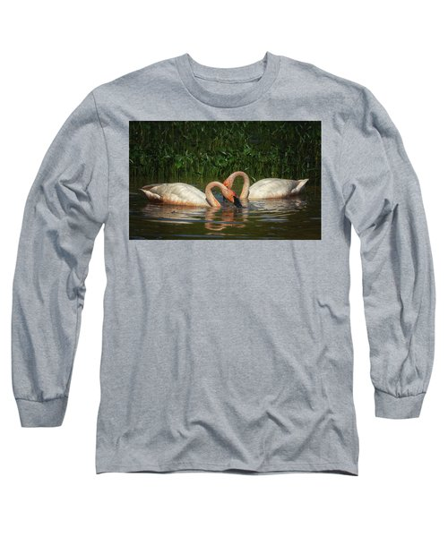 Swans In A Pond  Long Sleeve T-Shirt