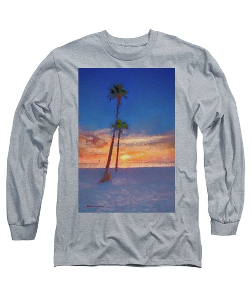 Long Sleeve T-Shirt featuring the photograph Swaying Palms by Marvin Spates