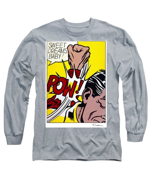 Sweet Dreams Baby Long Sleeve T-Shirt by Roy Lichtenstein