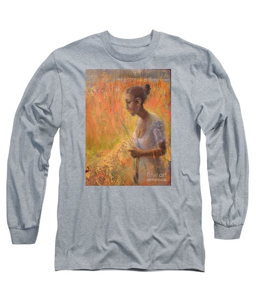 Long Sleeve T-Shirt featuring the painting Sweet Grass by Gertrude Palmer