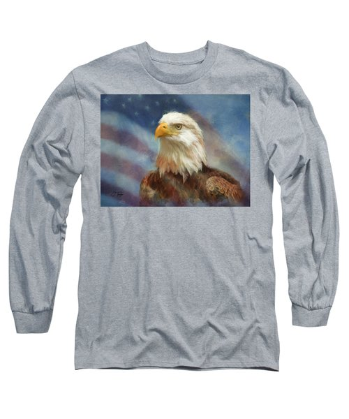 Sweet Land Of Liberty Long Sleeve T-Shirt by Colleen Taylor