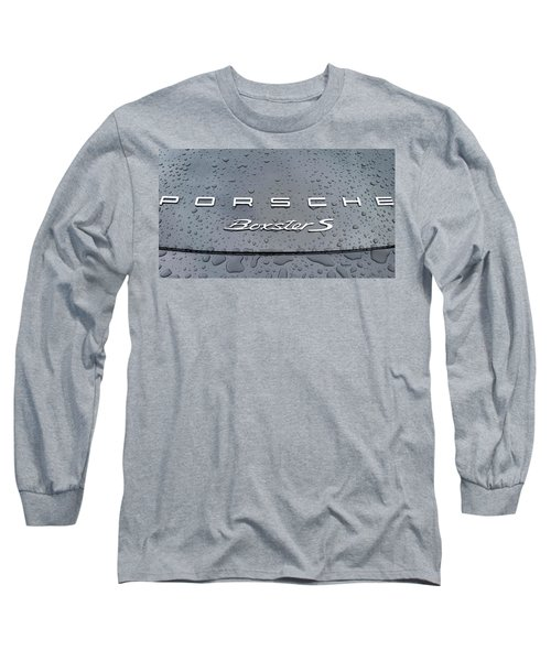 Rain Drops On A Porsche Boxster S Long Sleeve T-Shirt