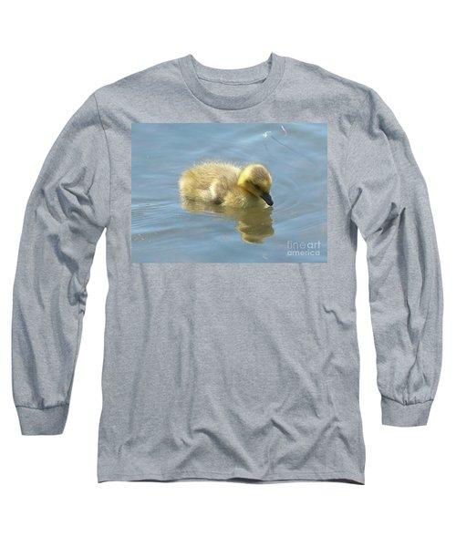 Sweet Swimming Gosling Long Sleeve T-Shirt