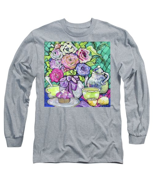 Sweetness And Tea Long Sleeve T-Shirt by Rosemary Aubut