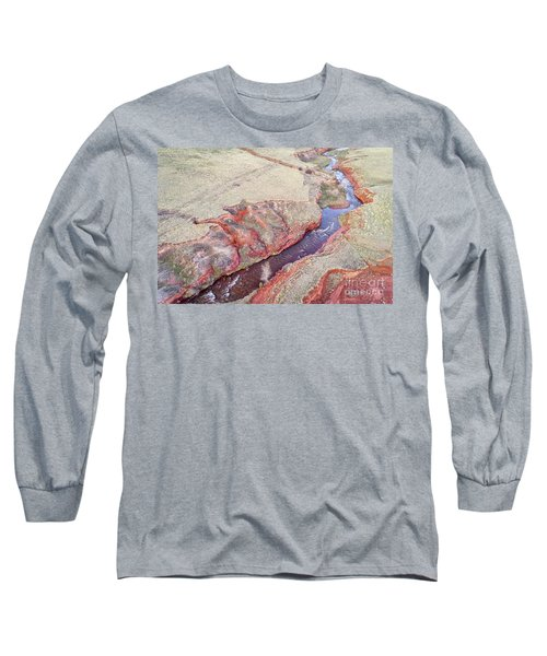 swift creek at  Colorado foothills - aerial view Long Sleeve T-Shirt