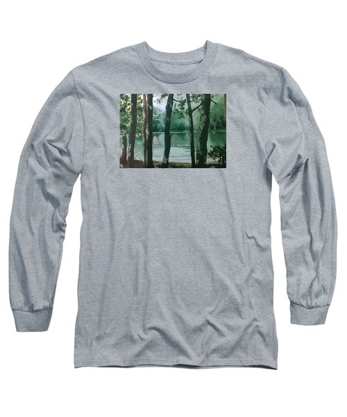 Swimming Hole Long Sleeve T-Shirt by Elizabeth Carr