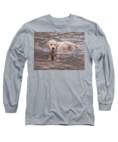 Swimming Puppy Long Sleeve T-Shirt