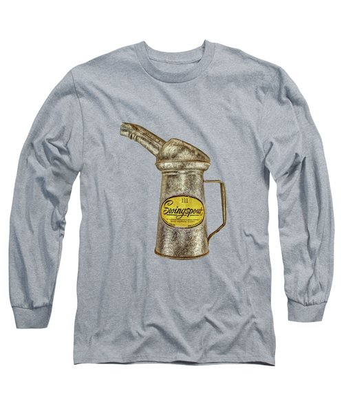 Swingspout Oil Can On Black Long Sleeve T-Shirt