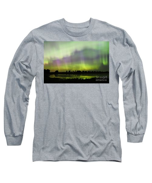 Long Sleeve T-Shirt featuring the photograph Swirling Curtains 2 by Larry Ricker