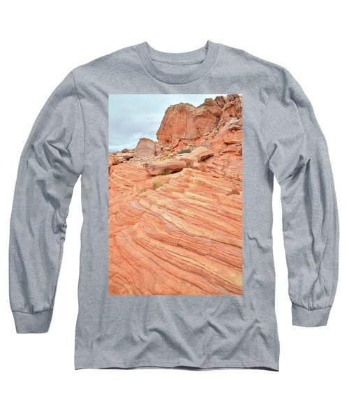 Long Sleeve T-Shirt featuring the photograph Swirling Sandstone Color In Valley Of Fire by Ray Mathis