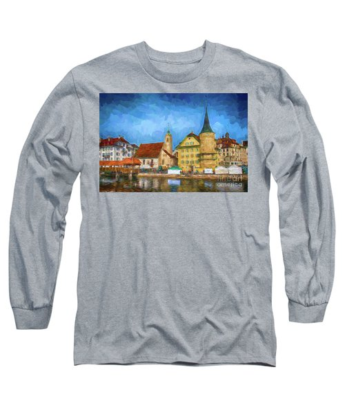 Swiss Town Long Sleeve T-Shirt by Pravine Chester