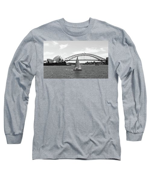 Sydney Harbour No. 1-1 Long Sleeve T-Shirt by Sandy Taylor