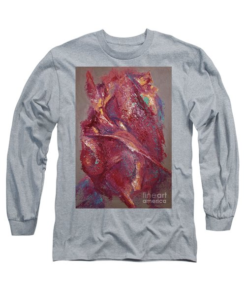 Long Sleeve T-Shirt featuring the painting Syncopation 4 by Mini Arora