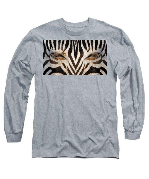 Synthetic Zebra Long Sleeve T-Shirt