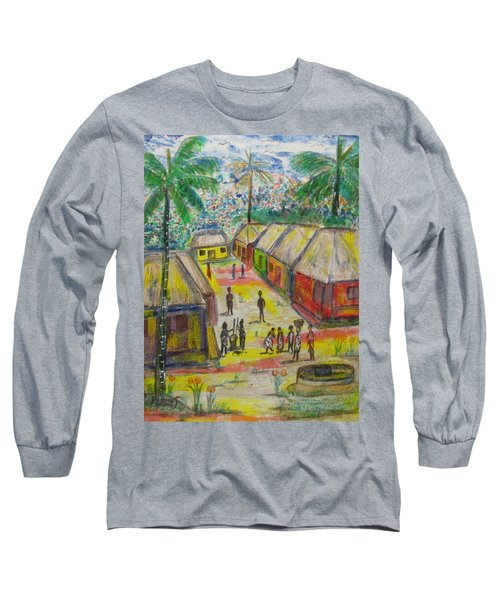 Long Sleeve T-Shirt featuring the painting Artwork On T-shirt - 0012 by Mudiama Kammoh
