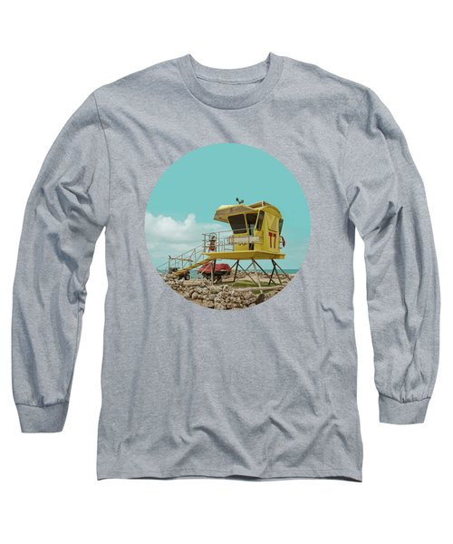 T7 Lifeguard Station Kapukaulua Beach Paia Maui Hawaii Long Sleeve T-Shirt