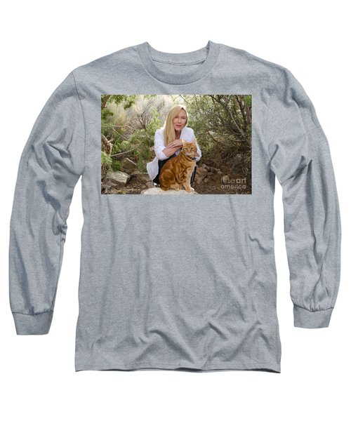 Tabasco And Molly On Meditation Rock Long Sleeve T-Shirt